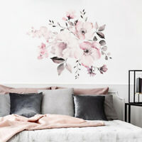 Wall Stickers Removable Pink Flowers Vinyl Decal Mural DIY Art Home Room Decor