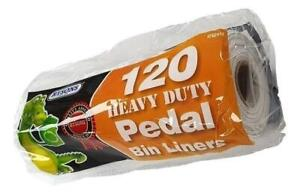 120 Pedal Bin Liners Roll Large 5l Strong Refuse Waste Rubbish Dustbin Sacks