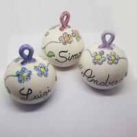 1 Pallina di natale in ceramica vietrese maiolicate a mano personalizzata