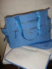Kipling Rosabell RARE Baby Bag Blue Skies Quilting Mix