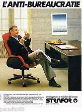 PUBLICITE ADVERTISING 065  1979  STRAFOR  aménagement mobilier bureau