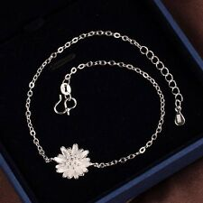 Charm Daisy Flower 925 Sterling Silver Ankle Anklet Chain Bracelet Foot Jewelry