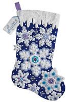 Bucilla 'Sparkle Snowflake' - Felt  Christmas Stocking Stitchery Kit -   86709