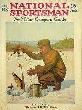Vintage National Sportsman Magazine Januarary 1927 Hunting Fishing