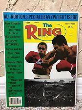 THE RING BOXING VINTAGE MAGAZINE MUHAMMAD ALI KEN NORTON Sept 1976 MINT UNREAD