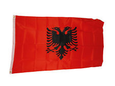 Albania Albanian National Flag 3x5 3 X 5 Feet New Polyester 2 Grommets