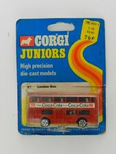 Vintage 1973 Corgi Juniors Coca-Cola London Bus New in Package Die Case Car Toy