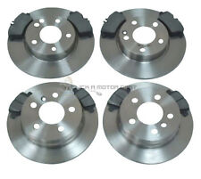 MERCEDES A-CLASS A150 2005-2012 FRONT AND REAR BRAKE DISCS & PADS SET (SOLID)