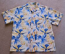 Joe Marlin Mens Hawaiian Aloha short sleeve button up Shirt Men M