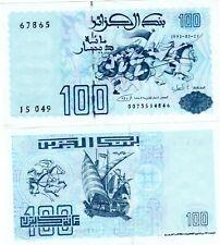 Algeria Algerie Billet 100 DINARS 1992  P137 BATEAU NEUF UNC