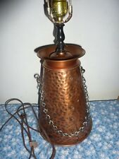 Colonial Brass Craftsman Vintage hammered Copper / Brass  Table Lamp