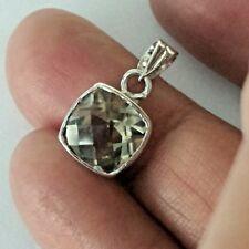Beautiful Pendent  Lemon Topaz Natural Gemstone Faceted  Sterling Silver 925
