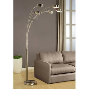 ArtivaUSA Modern 5 Steel Arched Floor Lamp with Rotatable Shade,Dimmer Switch