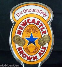 "Newcastle Brown Ale 7"" Acrylic Beer Bar Tap Handle Keg Marker Man Cave"