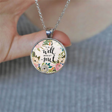 Bible Verse It is well with MY Soul Lettering Necklace Inspirational #Silver