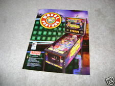 STERN pinball flyer WHEEL OF FORTUNE