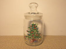 Tienshan Dinnerware Holiday Hostess Pattern Candy or Storage Jar 8 1/4""