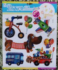 BABY Vivaio Bambini Kid Girl Boy Toy Box Dog BUS Muro Adesivo Decalcomania Camera Da Letto