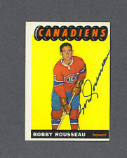 Bobby Rousseau signed Canadiens 1965-66 Topps card