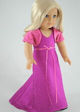 Party Dress & Top American made / Doll Clothes made for 18 inch Girl Dolls Pink
