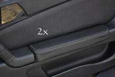 Se adapta a Alfa Romeo Gtv Cuero 2x Puerta Apoyabrazos cubre Gris