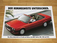 BMW E30 CABRIO POSTER 35 - 318i 320i 325i / ORIGINAL VINTAGE in MINT RAR