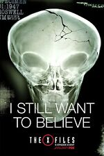 """THE X FILES 2016 FOX TELEVISION SERIES """"I STILL WANT TO BELIEVE"""" PROMO POSTER 1"""