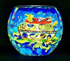 Benaya mano hecha a mano de té titular de la Luz Vidrio Noah's Arc Colorido Luz Nocturna regalo