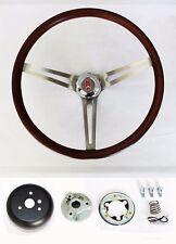 "1967 Oldsmobile Cutlass 442 Delta Wood Steering Wheel 15"" Low Gloss Finish"