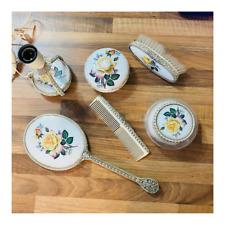 More details for regent of london vanity set lemonges porcelain dressing table vintage brush lamp