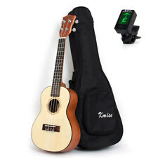 "Professional Laminated Spruce Top Concert Ukulele 23"" Hawaii Guitar w/Bag Tuner"