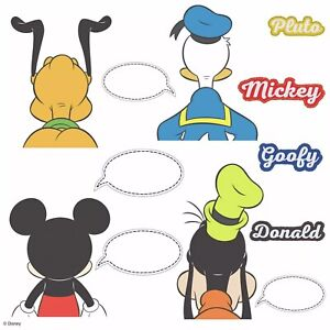 Disney Mickey and Friends Peel And Stick 12 Wall Decals Dry Erase 4 Sheets
