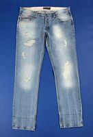 Alcott jeans jimmy uomo usato W40 tg 54 slim fit denim destroyed boyfriend T6024