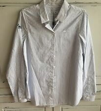 NEW Lacoste Striped Button Down Shirt Size 40 US Large 8 ATP Branded Tennis NWT