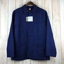 Vintage Dead Stock Chore Jacket French Style Work Worker Workwear Blue Men's M