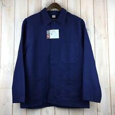 VINTAGE Dead Stock delle faccende domestiche Giacca Francese Stile Lavoro Worker Workwear Blu Uomo M