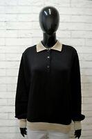 Valentino Donna Maglione Taglia M Cardigan in Lana Mohair Pullover Nero Sweater