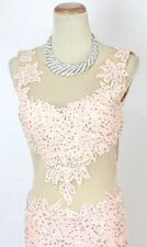 New Blush $500 Lace Mermaid Prom Formal Long Gown Dress Size 8 Evening Cruise