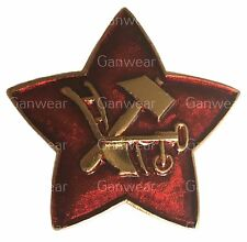 Russian Cap Badge RKKA Soviet Red Army Enamelled Star Hammer Plough Hat Military