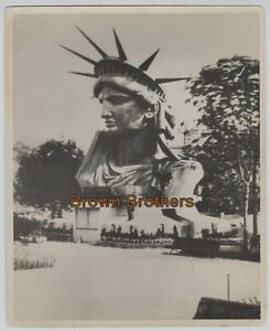 1878 Statue of Liberty Head Section Still in Paris DBW Photo - BB