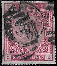 + 1884 Great Britain Queen Victoria Lady Supreme #108 A51 5sh Manchester cv$250.