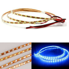 10x Blue 12V LED Soft Strip Light 90leds 90cm 4mm Width For Car Motorcycle Decor