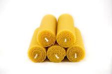 5 Tafelkerzen Wabenmuster gerollt 100% Imker Bienenwachs Kerzen aus Handarbeit