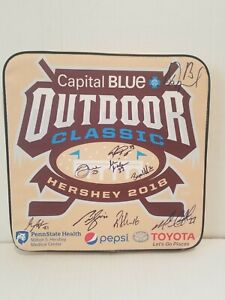 Hershey Bears Outdoor Classic 2018 seat cushion. Autographed x9. Prospal, Mink +