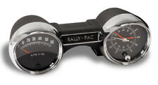 New! Drake 1965 Rally Pac V8 6000 rpm Black Mustang with Logo Chrome Bezels
