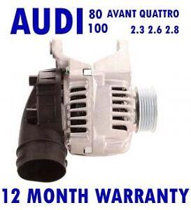 FITS AUDI 80 100 AVANT QUATTRO 2.3 2.6 2.8 SALOON ESTATE 1992 - 2006 ALTERNATOR