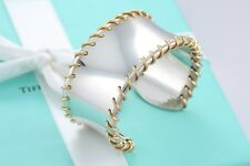 aed70d1f7 Rare Tiffany & Co. 18Kt. Gold Spiral Sterling Silver MEDIUM Wide Cuff  Bracelet