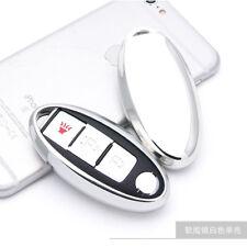 Silver TPU Soft Remote Key Fob Holder Cover For Infiniti M G Q EX FX QX50 G37