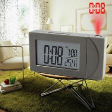 Projecteur Réveil de Projection Plafond Mur Horloge Bureau Maison Cadeau Gris