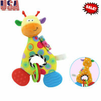 Infant Animal Soft Rattles Teether Hanging Bell Plush Doll Newborn Baby Toys